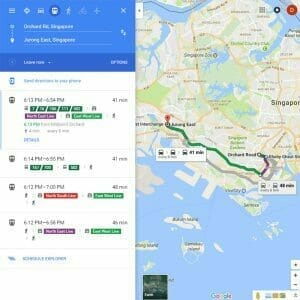 Google Map Transit