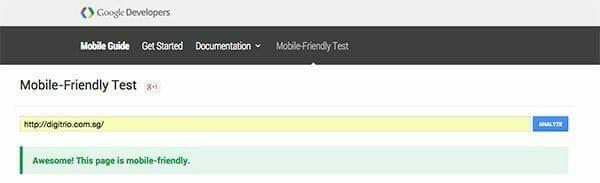 Google Mobile Friendly Test 1