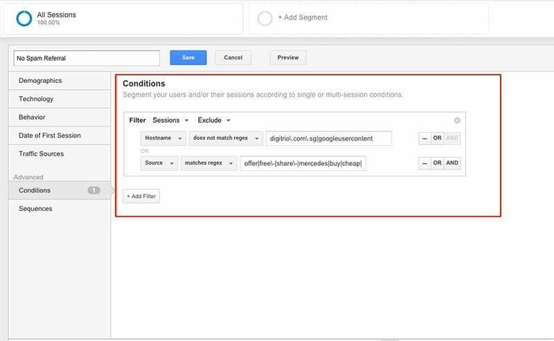 Custom Segment Google Analytics