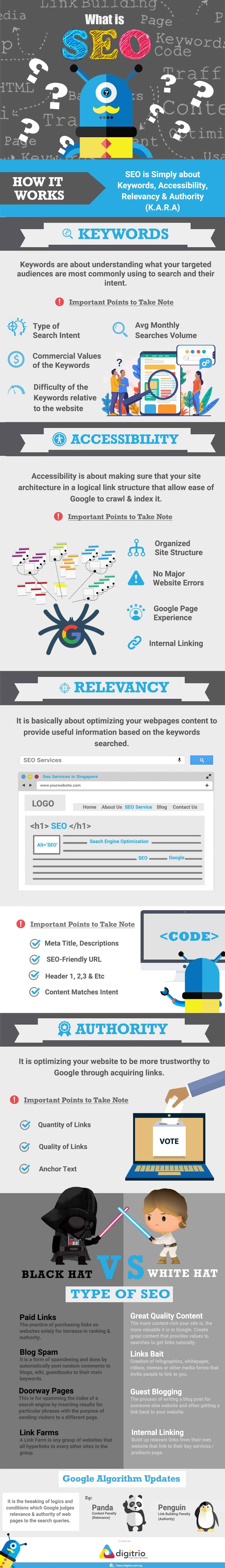 What is SEO Infographic by Digitrio